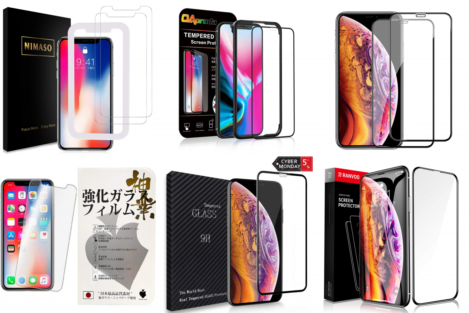 2018年「iPhone XS」用ガラスフィルムを10選まとめてみました!